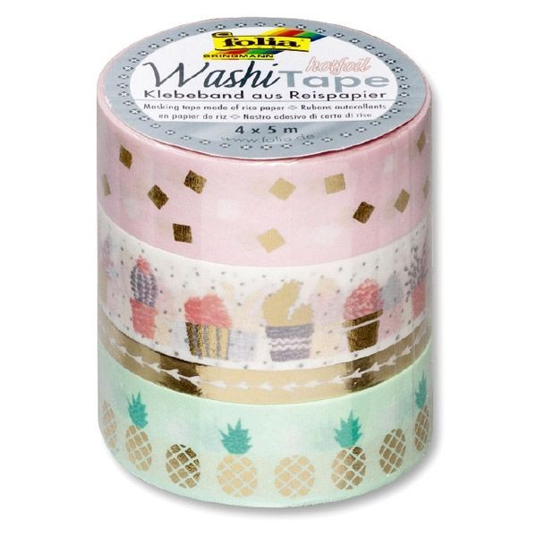 Washi-Tape 4er Set HOTFOIL GOLD