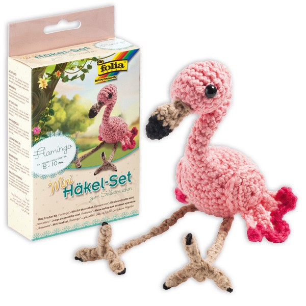 Mini-Häkelset Flamingo