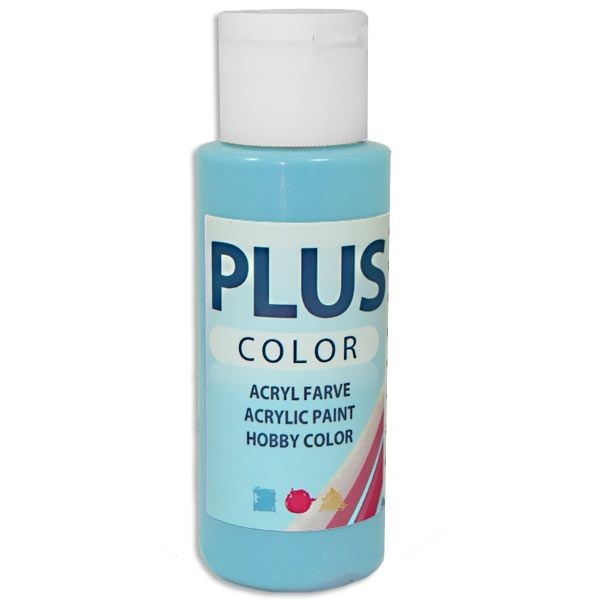 Plus Color Bastelfarbe, 60 ml, eisblau