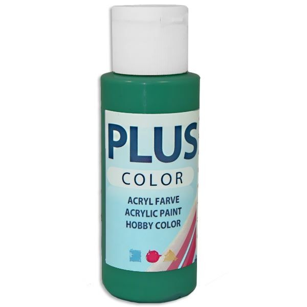 Plus Color Bastelfarbe, 60 ml, dunkelgrün